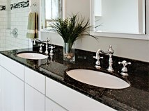 Granite Vanity Countertop in Bathroom