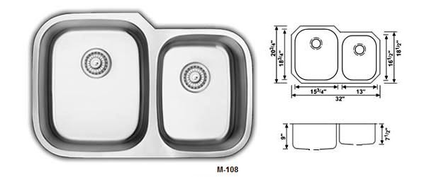 Double Bowl Stainless Steel Kitchen Sinks