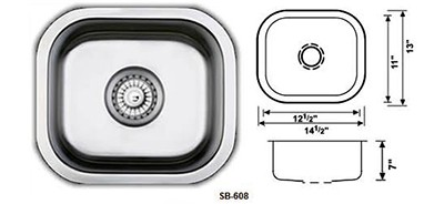 Undermount Single Bowl Stainless Steel Kitchen Sinks